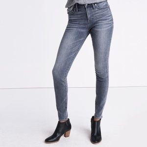 "NEW Madewell 9"" High Riser Skinny Jeans, 26"